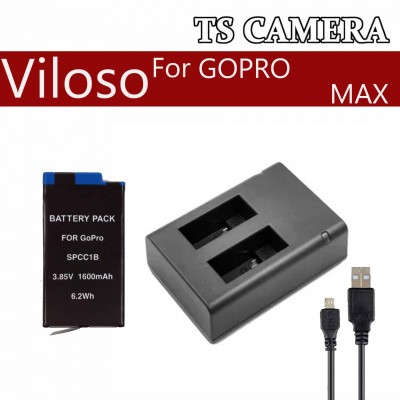 GOPRO MAX REPLACEMENT VILOSO BATTERY CHARGER / GOPRO HERO MAX BATTERY CHARGER / BATTERY GOPRO / CHAGER GOPRO