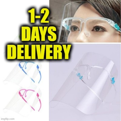 Face Shield Eye Protection Safety Wear Cooking Face Shield Anti-Fog Anti-Oil & Smoke Clear Face Cover Mask SMLJ