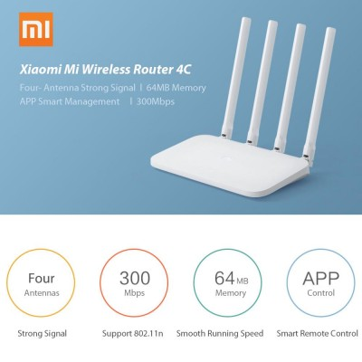 Xiaomi Smart Wifi Router 4C 1200Mbps Single Band Router WiFi Routers Wireless Router