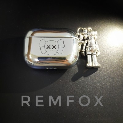Electroplating KAWS Soft Airpods 1 2 3& Pro Case Include With Kaws Doll/Apple Wireless Bluetooth Headset Airpod