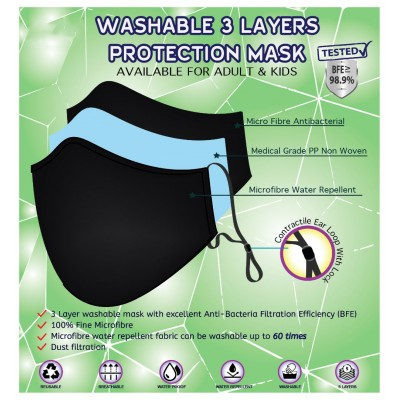 WASHABLE 3 LAYER PROTECTION MASK