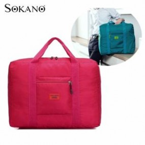 Perfect Travel Companion Foldable Luggage Bagas... (Rose Red...