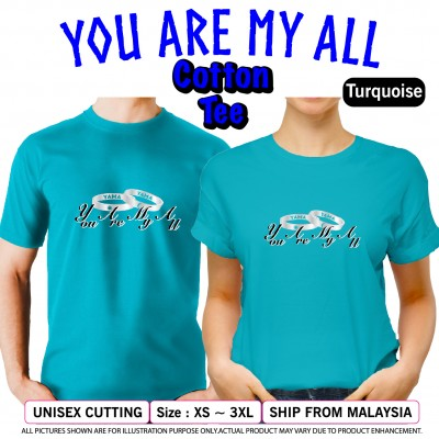 Cotton T-Shirt You Are My All YAMA Couple Design