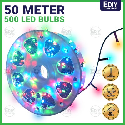 GE LED EXTRA LONG CHRISTMAS X'MAS LIGHT DECORATION 50 METER 50M 50 M RAIN WATER PROOF RGB MULTI COLOR FULL COPPER QUALITY ROPE