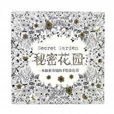 Secret Garden 秘密花园 - An Inky Treasure Hunt and Colouring Book (24 Pages) (Chinese)
