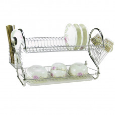 AS - S Shape 2-Layer Dish Drainer Rack (DR01) (45 x 25 x 39cm)