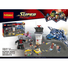 Decool 7123 - Super Heroes Airport Battle Minifigures (807pcs)