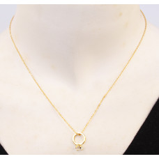 Gold Diamond Ring Necklaces