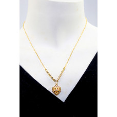 24K Gold Simple Heart Necklaces