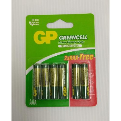 GP Green Cell Battery AAA 4+2pcs