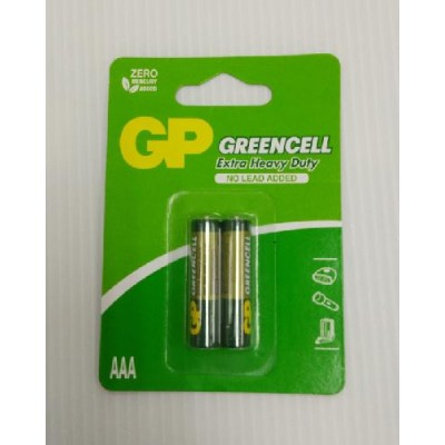 GP Green Cell Battery AAA 2pcs