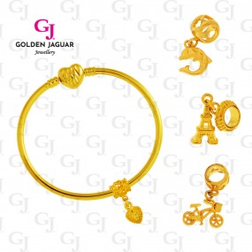 GJ Jewellery Emas Korea Set - Fairy Tale Charm ... (Gold)