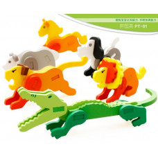 Wooden 3D Animal Puzzles