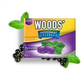 Woods Peppermint Drops - Blackcurrant (15gX15sa...