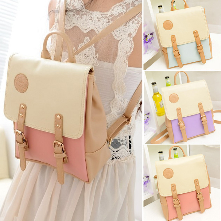 Japanese Candy Sweet Girl Vintage School Bag Outing Travel Backpack