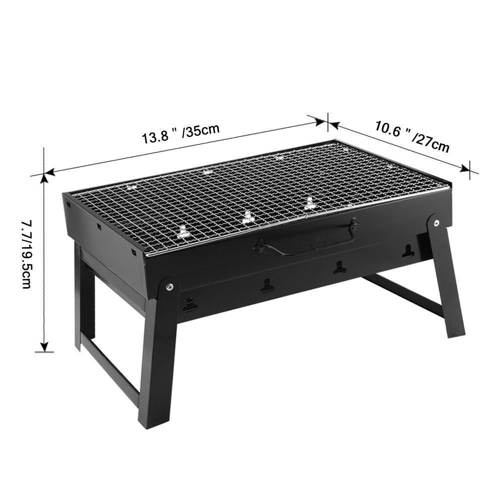 TOPMALL BBQ Portable Charcoal Grill Pan Home Outdoor Camp ...